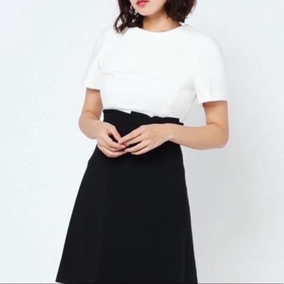 kate spade Dresses & Skirts - Kate Spade Black & White Bow Dress Size 10
